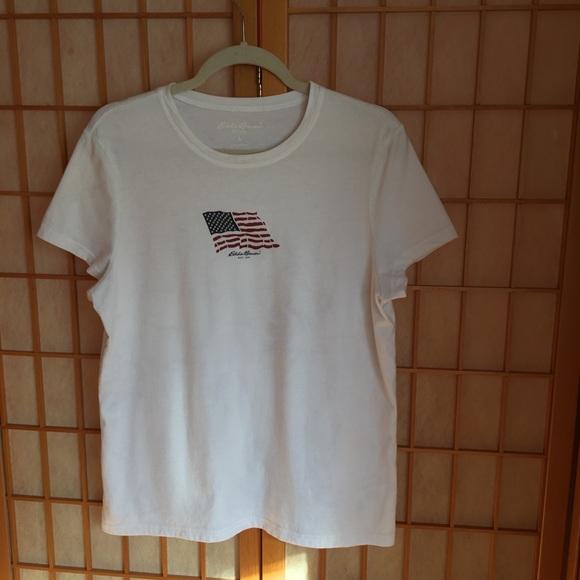 Eddie Bauer Tops - Eddie Bauer White Flag Shirt